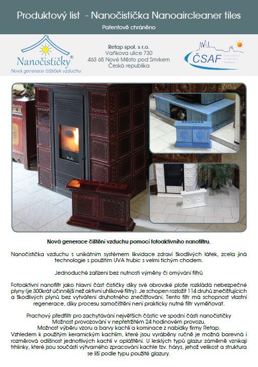 Produktový list nanoaircleaner wood