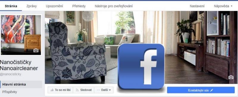 Nanočističky vzduchu Facebook