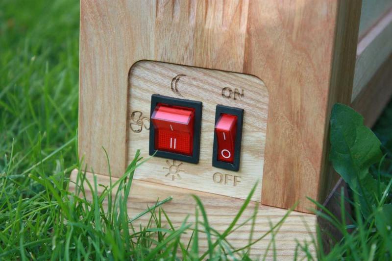 Nanoaircleaner wood ovládací panel