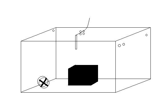 Schéma zkušební komory pro testování